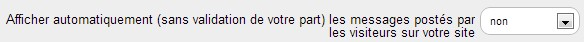 validation commentaire