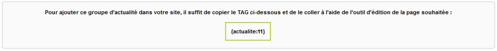 tag actualite - creer