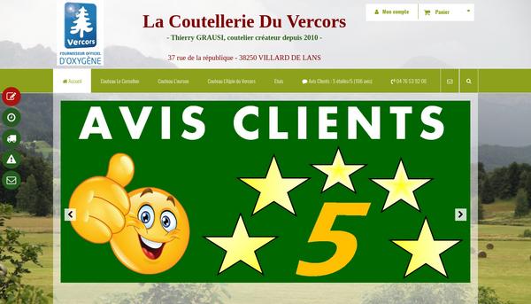 LaCoutellerieDuVercors : vente de couteaux