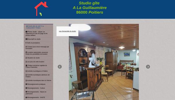 Location  saisonnière vacances studio A La Guillaumière Poitiers