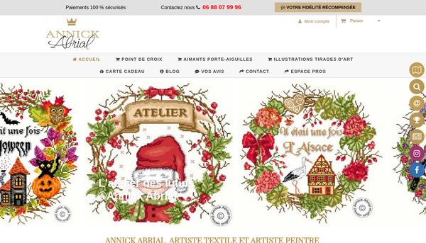 Site d' Annick Abrial designer textile, sculptrice et artiste peintre