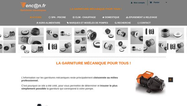 Encan.fr : garnitures mecaniques de pompes