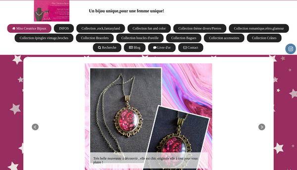 Site de misscreatricebijoux : CmonSite