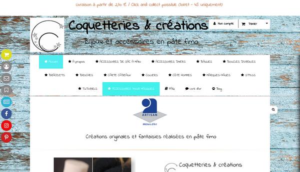 Site de coquetteriesetcreations : CmonSite