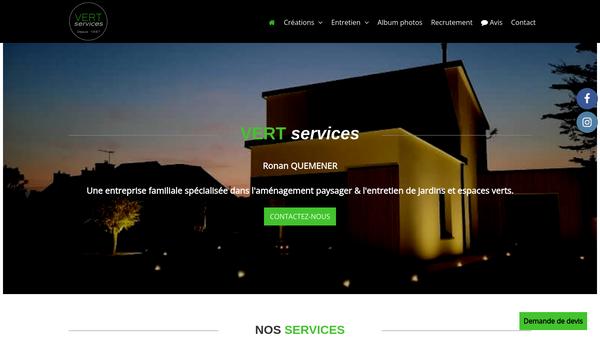 VERT SERVICES : paysagiste, aménagement et entretien de jardins et esp