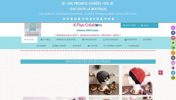 K-Thys Créations - Site et boutique de vente 100% artisanat français