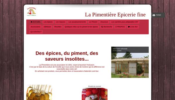 Site de La Pimentière: épicerie fine et piments