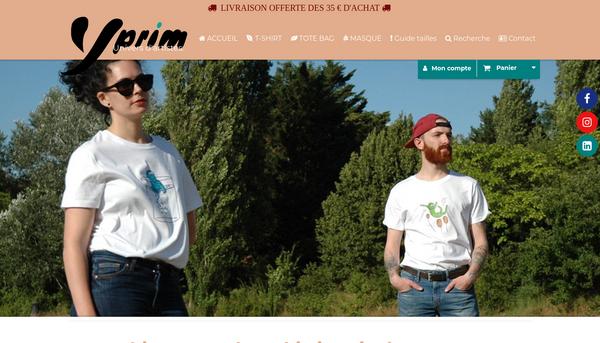 tee shirts et tote bags bio Yprim.com