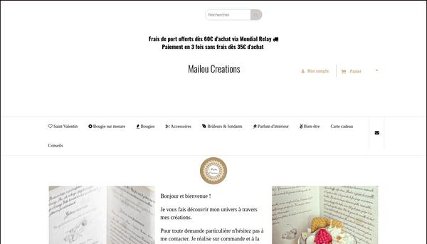 Site de mailoucreations : CmonSite