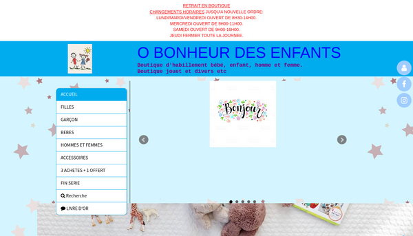 Site de obonheurdesenfants : CmonSite