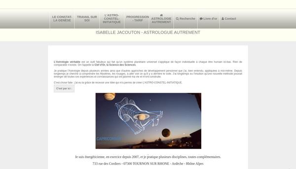 Site de Isabelle Jacouton : CmonSite