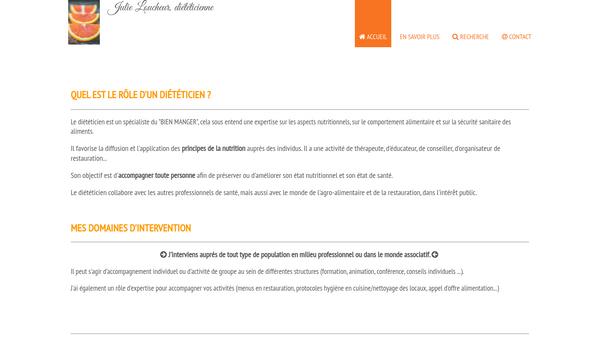 Site de Julie Loucheur - Diététicienne Nutritionniste