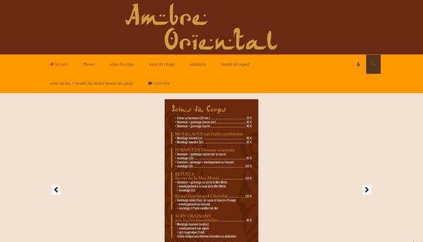 Site d'Ambre Oriental : Institut de beauté Puyricard