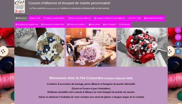 La fée couturière : Créatrice coussins d'alliances,bouquet de mariée