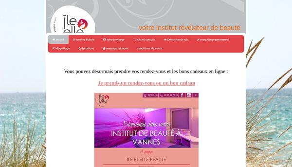 Site d'ileetellebeaute.fr : Institut de beauté