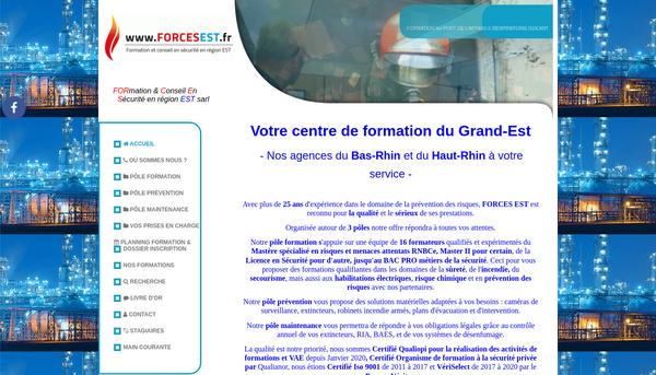 Site de forcesest.fr : Formation & Conseil En Sécurité SSIAP - CQPAPS