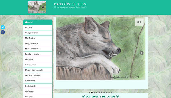 Portraits de loups