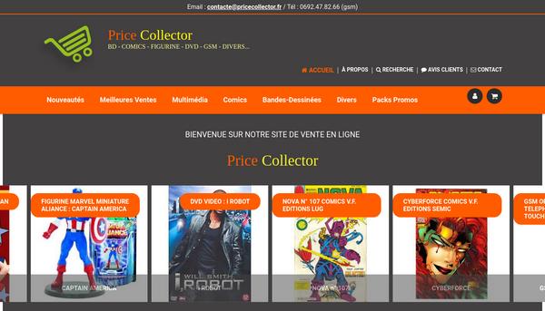 Site de price collector : CmonSite