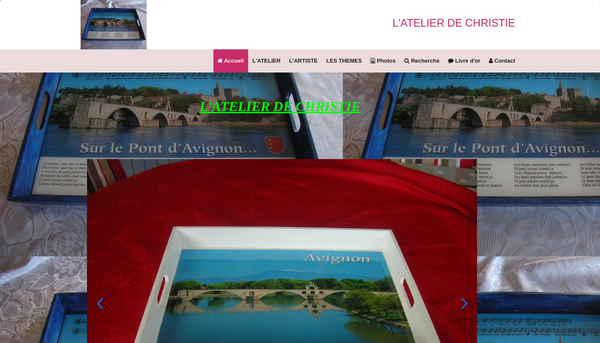 Site de atelier-de-christie : CMonSite