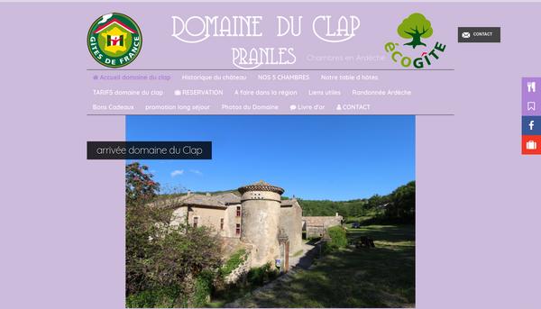 Site du Domaine du Clap - Chambres d'hôtes Ardèche