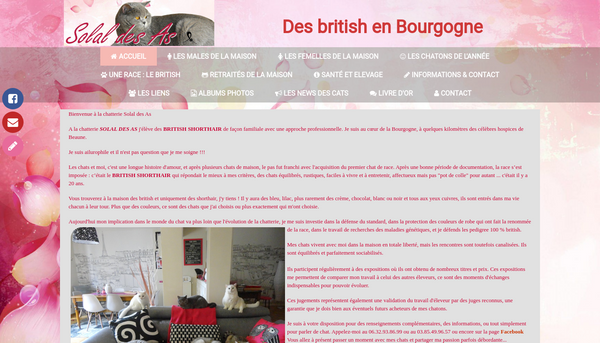 Site de la chatterie Solal des As