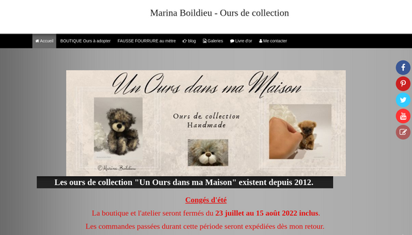 Un Ours dans ma maison : ours de collection