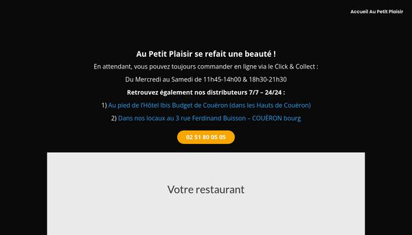 Aupetitplaisir.fr : Pizzeria Brasserie à Couëron Loire Atlantique