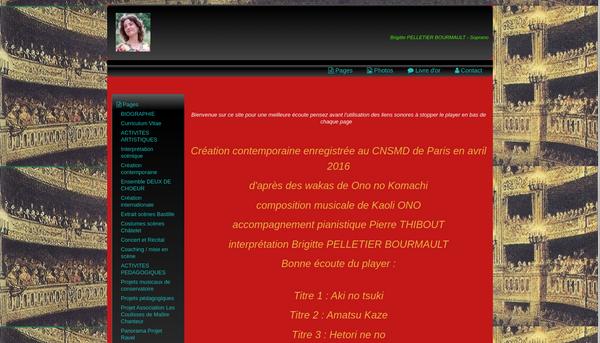 Site de Brigitte PELLETIER BOURMAULT - Soprano
