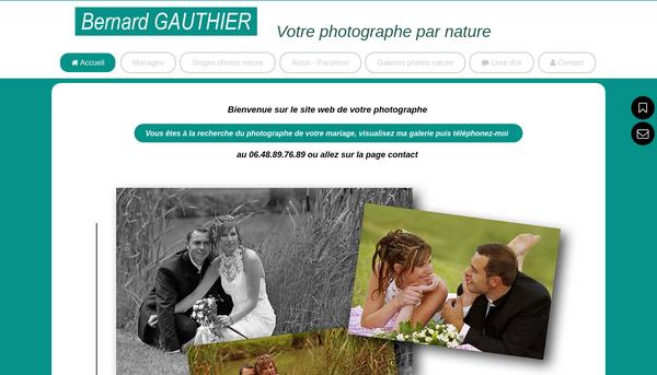 Site de bernardgauthierphotographe : CmonSite
