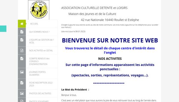 Site de acdlroullet-fr : CmonSite