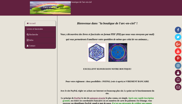 Site de laboutiquedelarcenciel.be : CmonSite