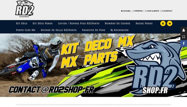 La boutique en ligne crée par rd2shop