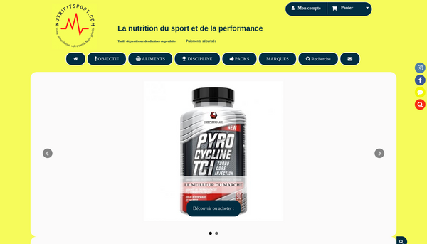 Site de nutrifitsport67 : CmonSite