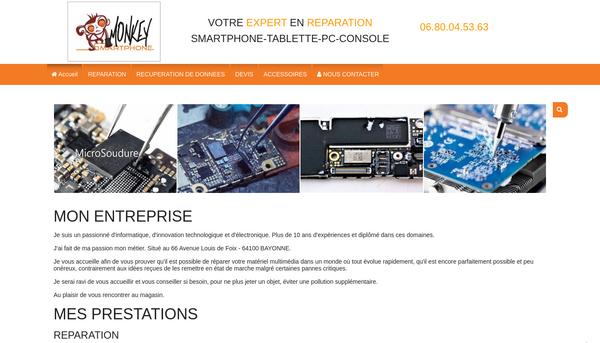 Site de monkey-smartphone : CmonSite