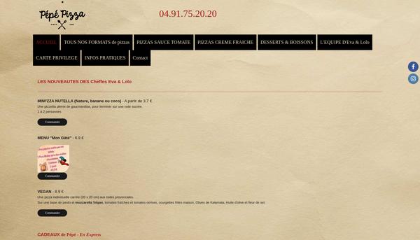 Site de pepe-pizza : CmonSite