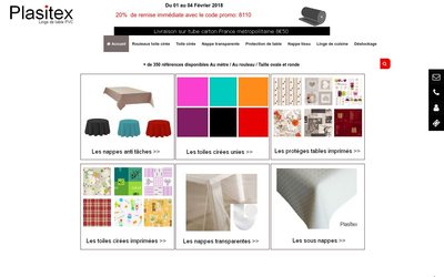 Linge de table pas cher - Plasitex