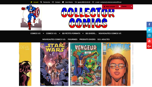 Site de collectorcomics974.net : CmonSite