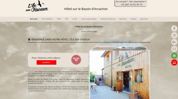 Hôtel L'île aux oiseaux - Hôtel sur le Bassin d'Arcachon