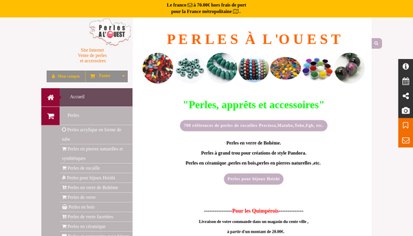 Site de perlesalouest : CmonSite
