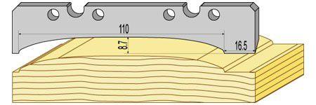 Profil loglap (ici sans l'usinage de la rainure