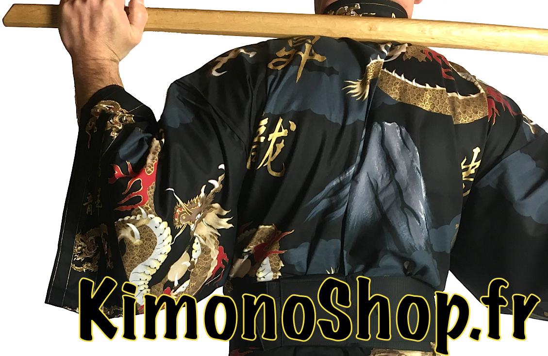 Kimono Yukata Fuji To Ryu homme