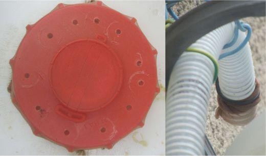des vieux collants pour empêcher les moutiques de s'installer dans votre réccpérateur d'eau de pluie