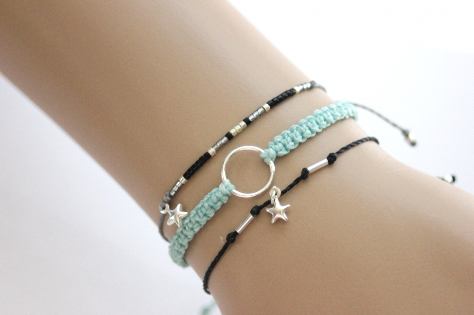Bracelet cordons et perles by EmmaFashionStyle