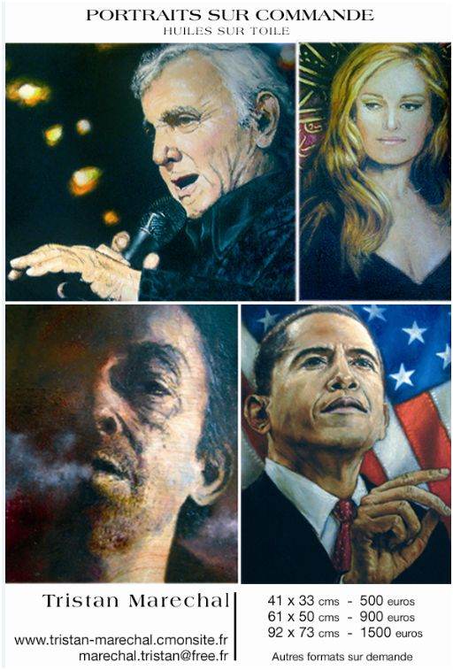 tarifs portraits huile sur toile
