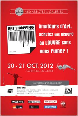 affiche Art Shopping Octobre 2012 Carrousel du louvre