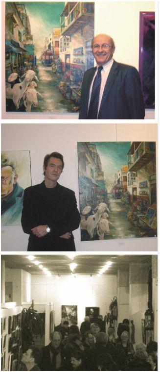 Philippe Sarre maire de Colombes. salon des amis des arts.