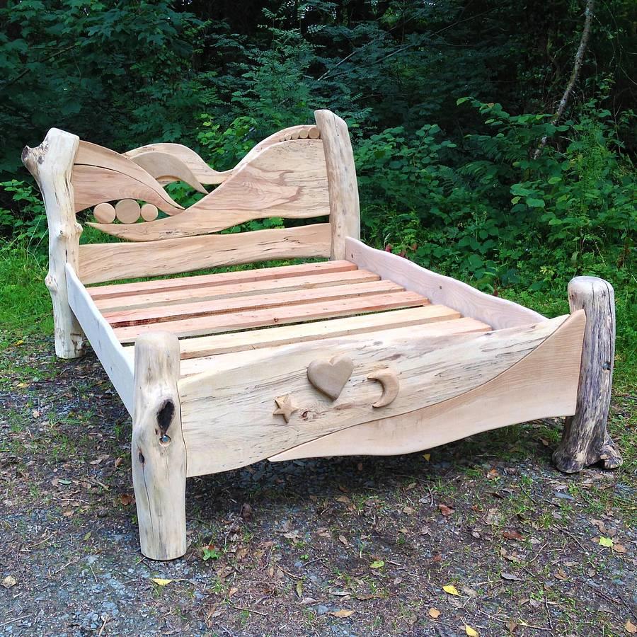 lit en bois flotté design