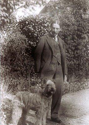 Portrait de Sédir, et de son chien